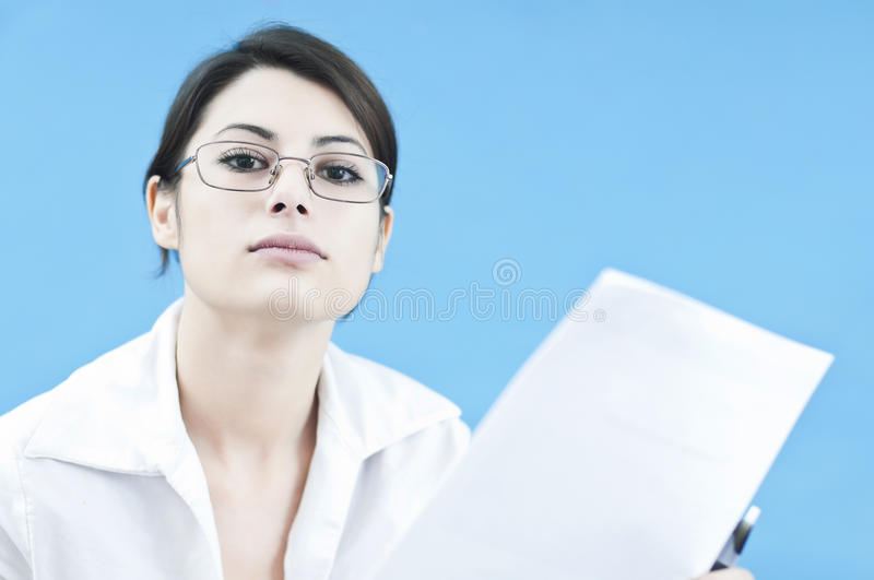 Download Business Woman Communicating Stock Image - Image: 22344991