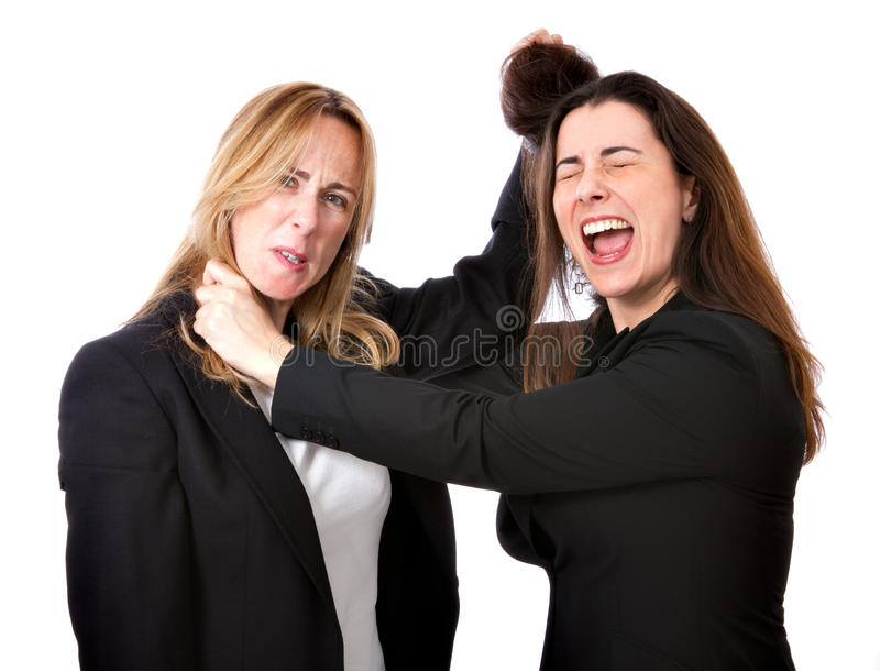 Business woman competition royalty free stock images
