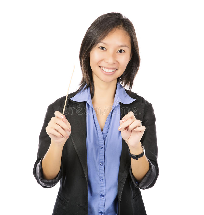 Business woman conductor stock photography