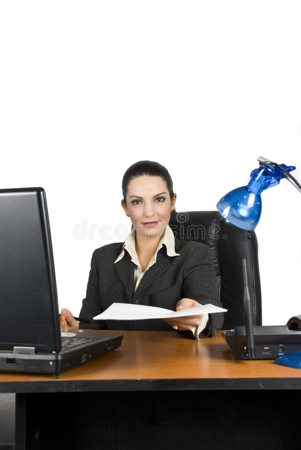 Download Business Woman With Contract Stock Image - Image: 6982783