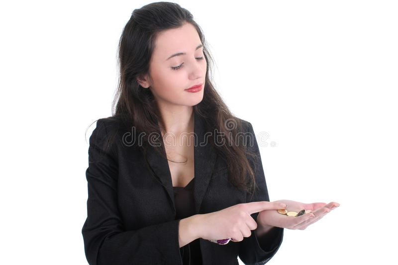 Download Business Woman Counts The Money Stock Photo - Image: 18313452