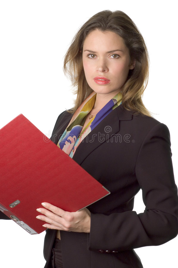 Business woman with documents stock photography