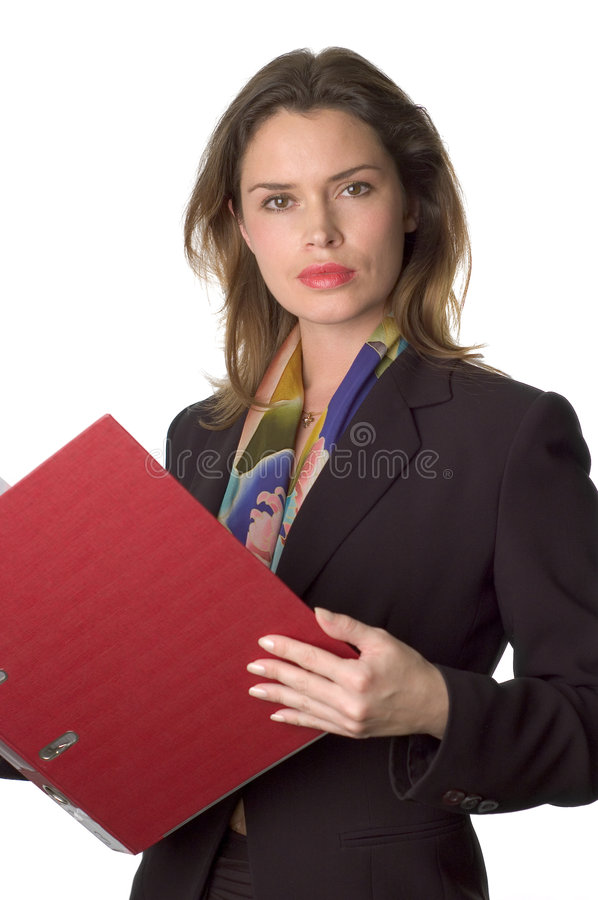 Business woman with documents royalty free stock photography