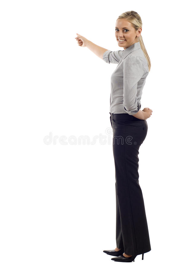 Business woman doing a presentation stock photography