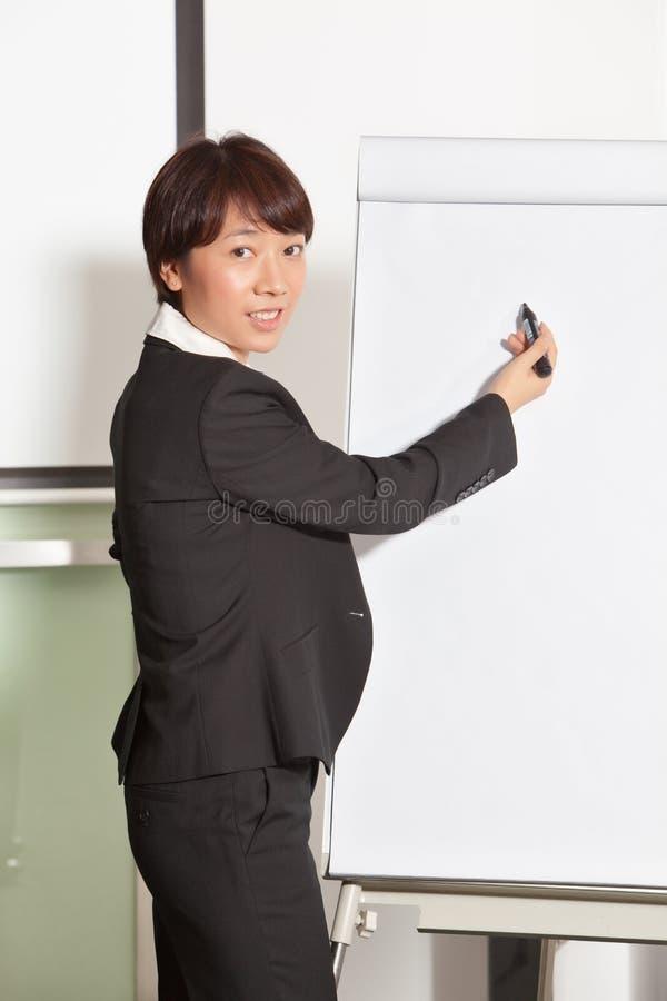 Business woman doing presentation 2 stock image