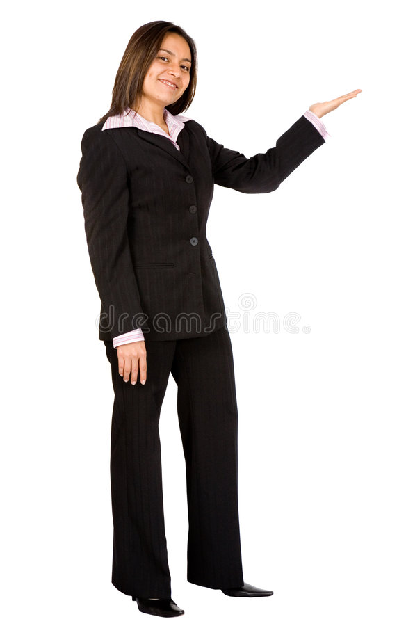 Download Business Woman Doing A Presentation - Smiling Stock Image - Image: 1912333