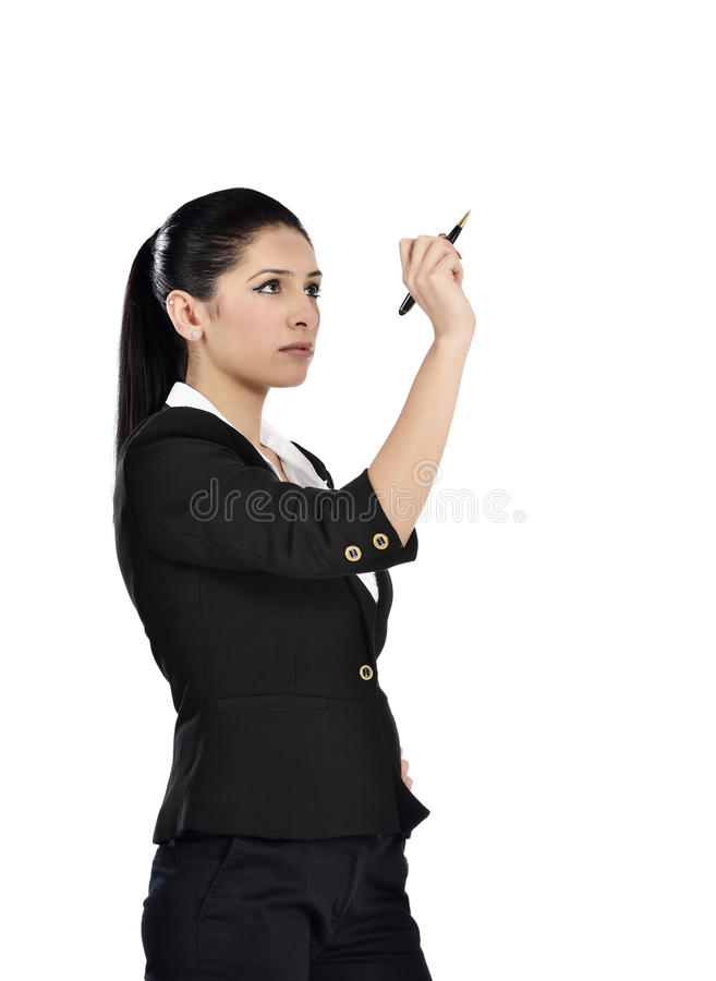 Download Business Woman Drawing A Chart Stock Photo - Image: 37233214