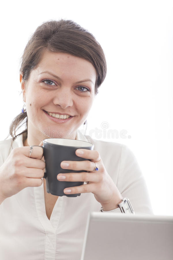 Download Business Woman Enjoying Coffe Stock Photo - Image: 19049630