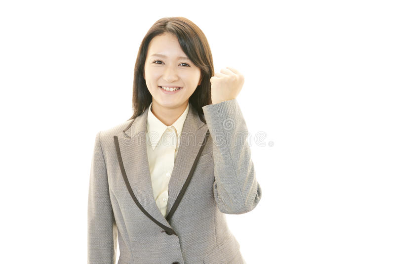 Download Business Woman Enjoying Success Stock Photo - Image of attractive, charming: 39510100