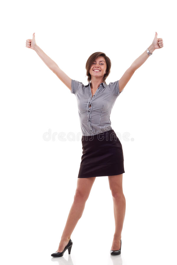 Download Business Woman Excited Giving Thumbs Up Stock Image - Image: 19913347