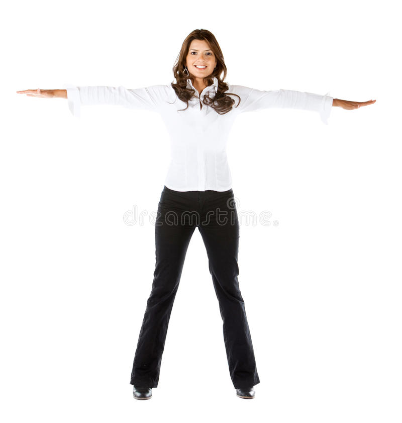 Download Business Woman With Extended Arms Stock Photo - Image: 16137682