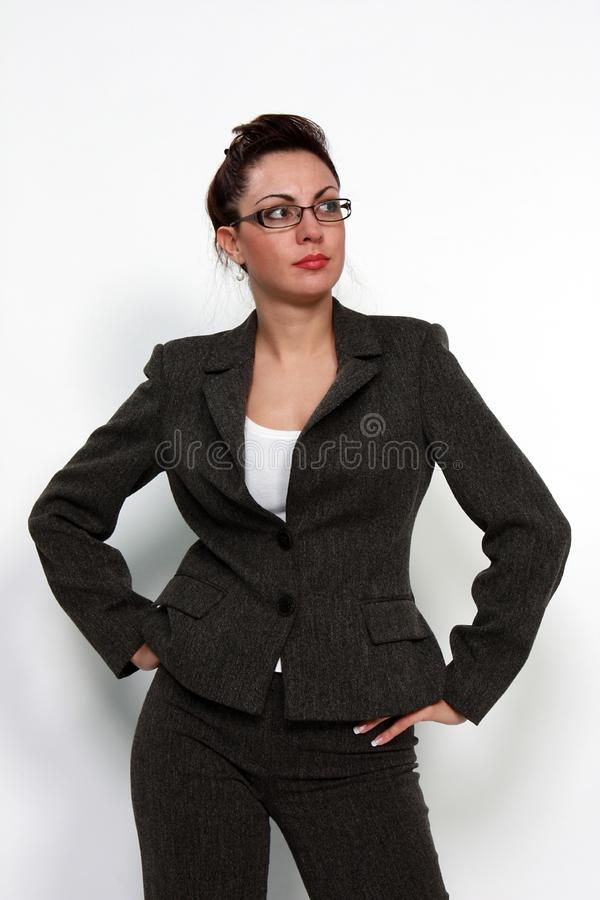 Download Business Woman With Eyeglasses Stock Image - Image of eyelashes, health: 15167921