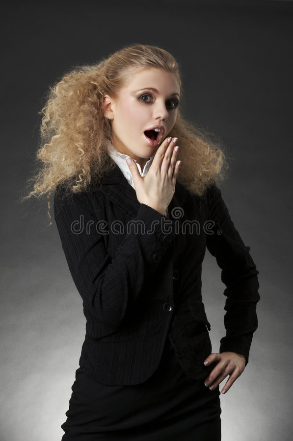 Business Woman With Facial Expression Royalty Free Stock Photos