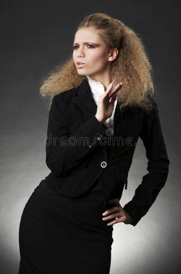 Download Business Woman With Facial Expression Stock Photo - Image: 7682618