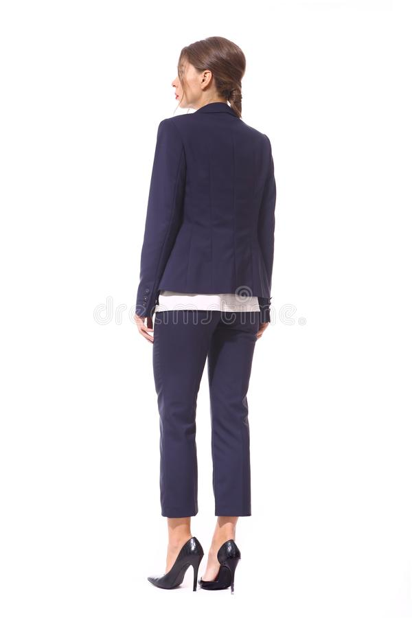 Business woman in formal clothes isolated on white royalty free stock image