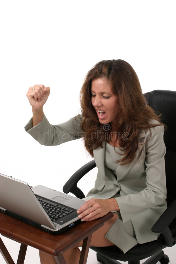 Business Woman Frustrated 2 Stock Photo