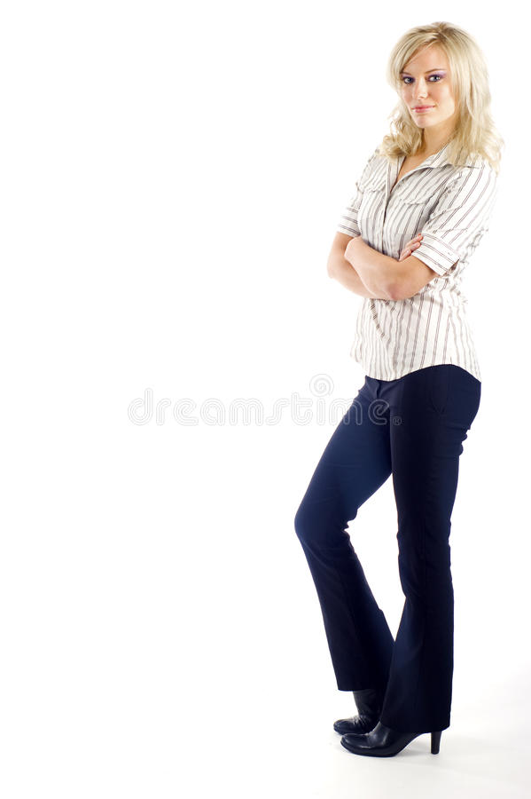 Business Woman - Full Body royalty free stock photos