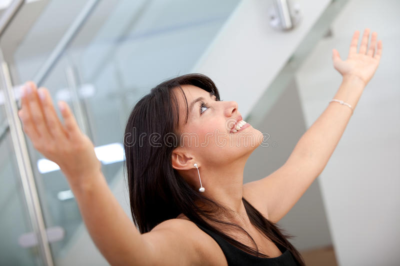 Download Business Woman Full Of Success Stock Photo - Image: 13640986