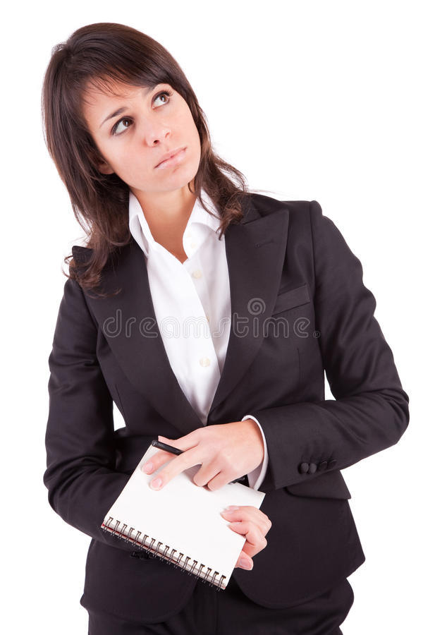Download Business Woman Full Of Thoughts Stock Photo - Image: 13208082