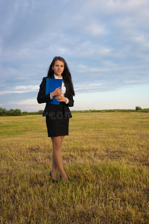 Download Business Woman On Green Field Stock Photo - Image: 38700990