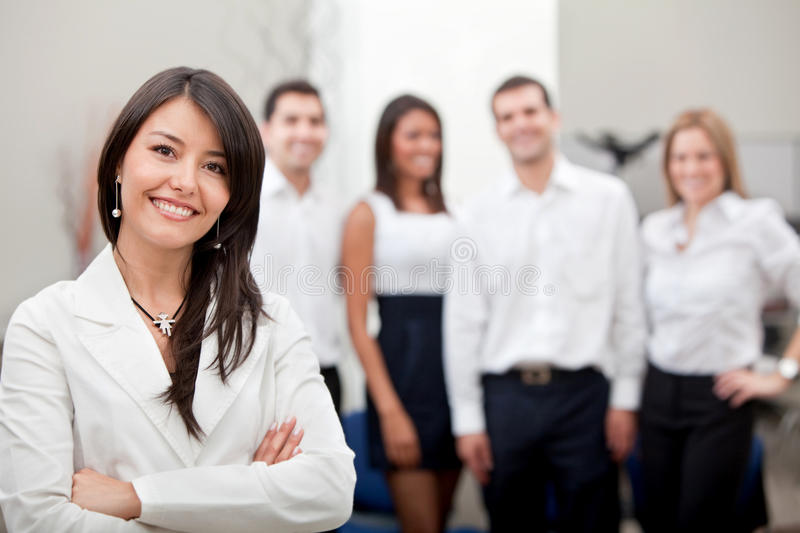 Download Business Woman With A Group Stock Photo - Image: 14938722