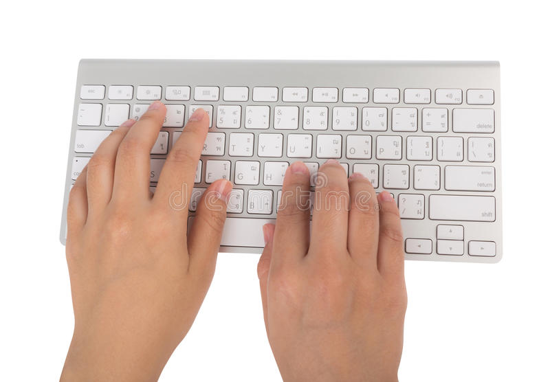 Download Business Woman Hand Typing On Laptop Keyboard (with C Stock Image - Image of computer, corporate: 40734805