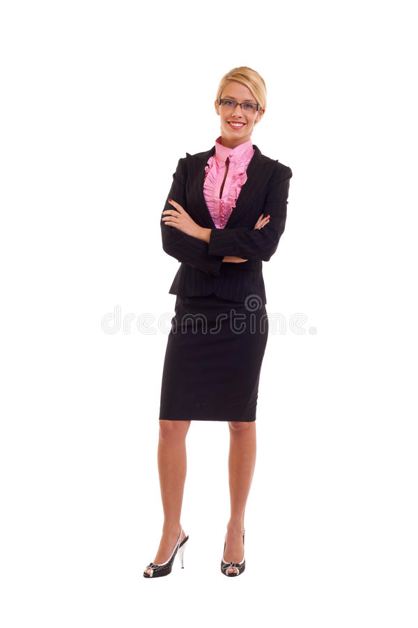 Business woman with hands crossed stock photography
