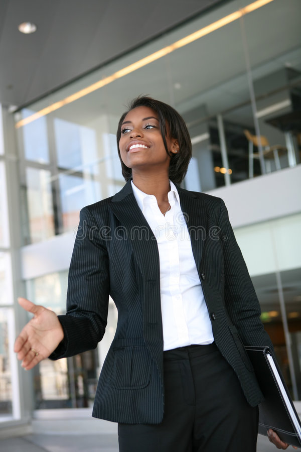 Business Woman Handshake royalty free stock images