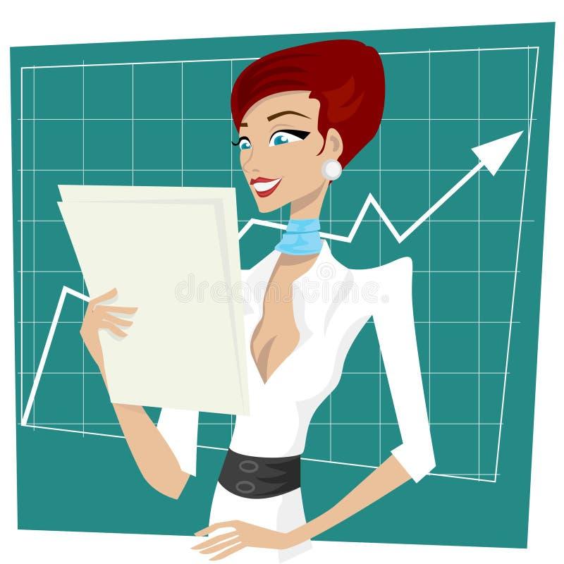 Business woman happy vector illustration