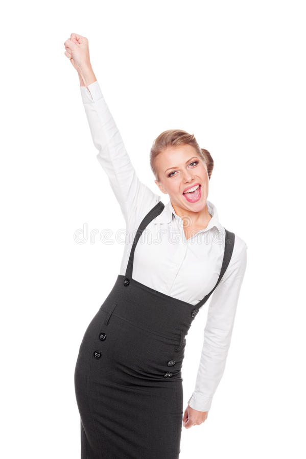 Download Business Woman Happy Of Her Success Stock Photo - Image: 27172574