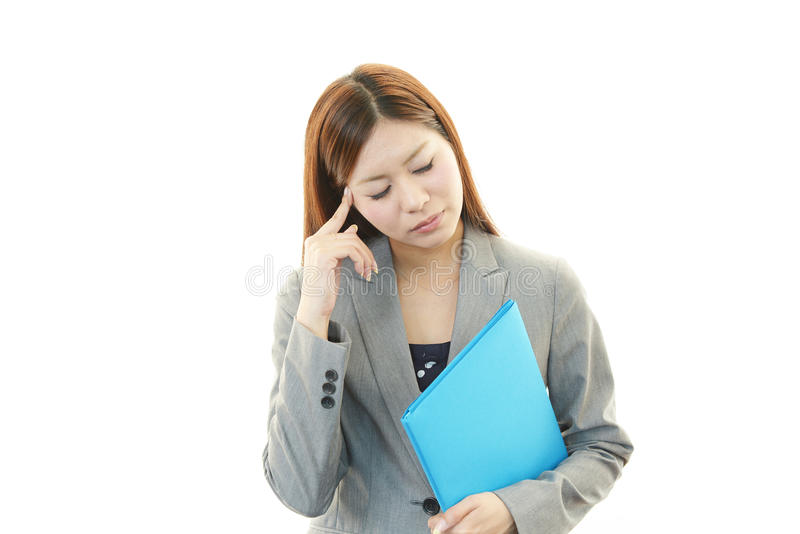 Download Business Woman Having A Headache Stock Photo - Image of career, cute: 39507538