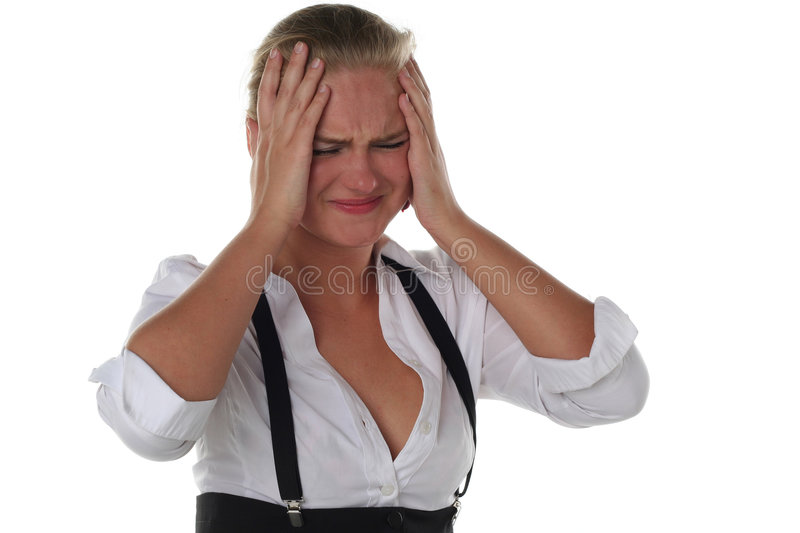 Business Woman With Headache Royalty Free Stock Image