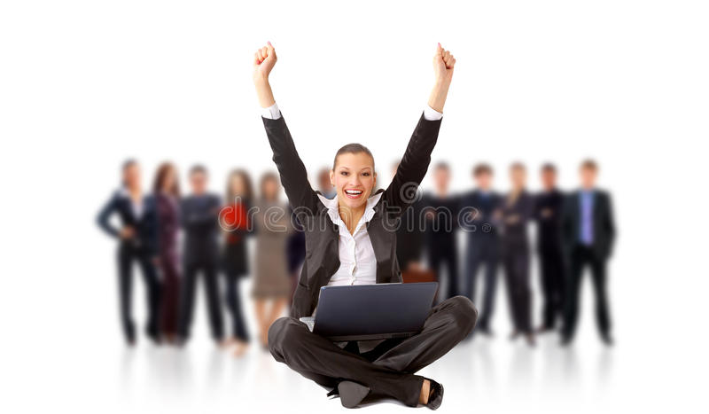 Download Business Woman With Her Hands Stock Image - Image: 17843995