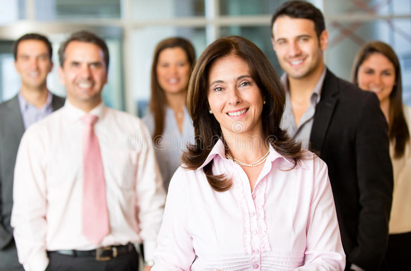 Download Business Woman With Her Team Stock Photo - Image: 25070094