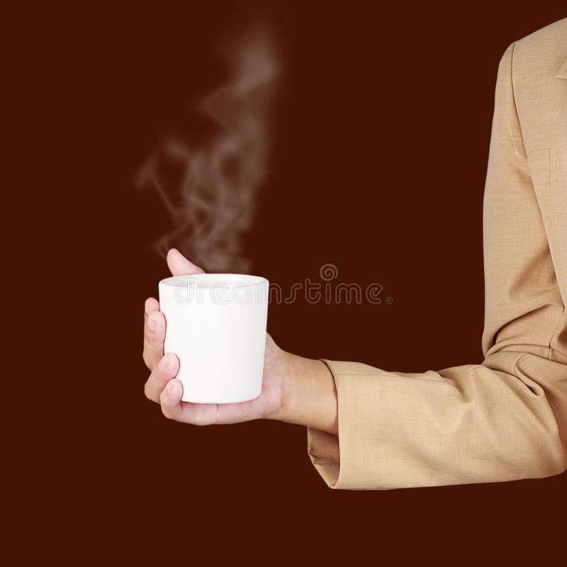 Download Business Woman Holding A Cup Of Coffee Royalty Free Stock Photos - Image: 25682508