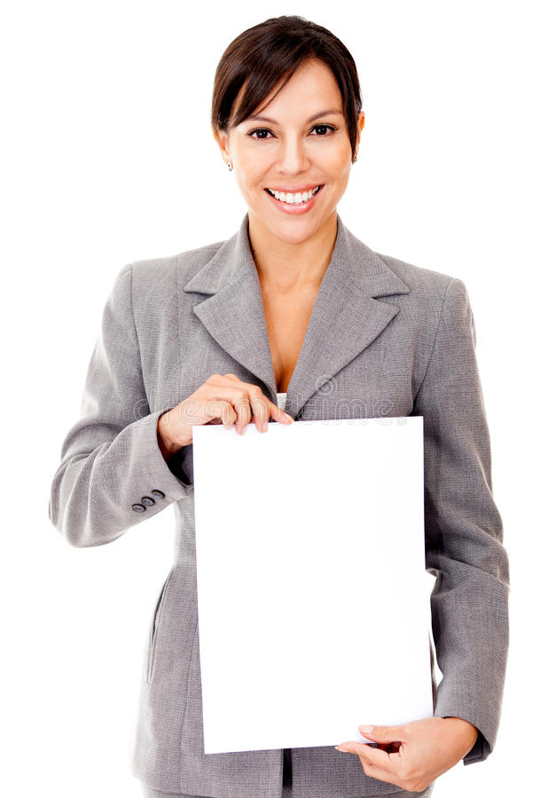 Download Business Woman Holding A Document Stock Photo - Image: 23372226