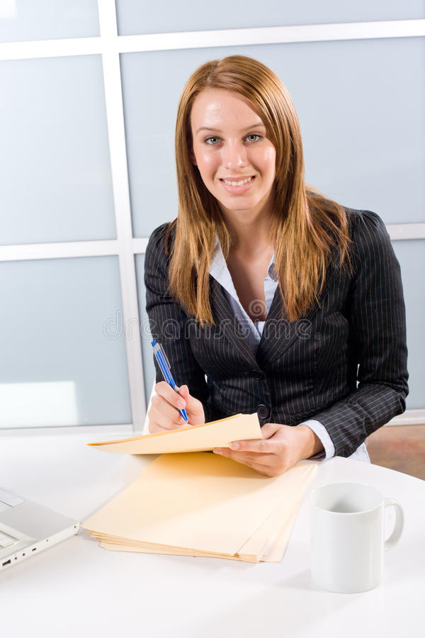 Free Business Woman Holding Legal Stock Photos - 10145663