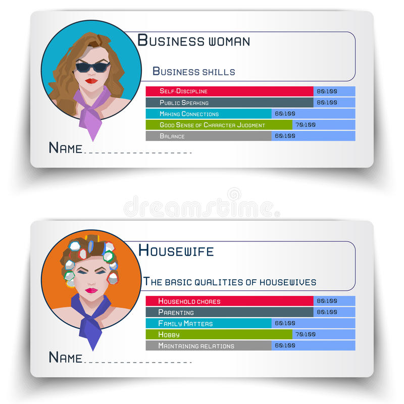 A Business Woman And A Housewife, Ellement Stock Vector ...