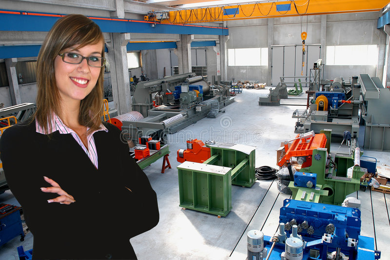 Download Business Woman In Industry Stock Image - Image: 5415531