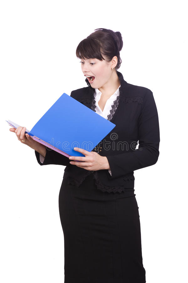 Free Business Woman Is Shocked At Finances Account Royalty Free Stock Image - 11907166