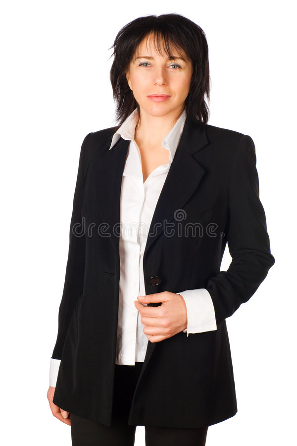 Business Woman . Isolated Royalty Free Stock Images