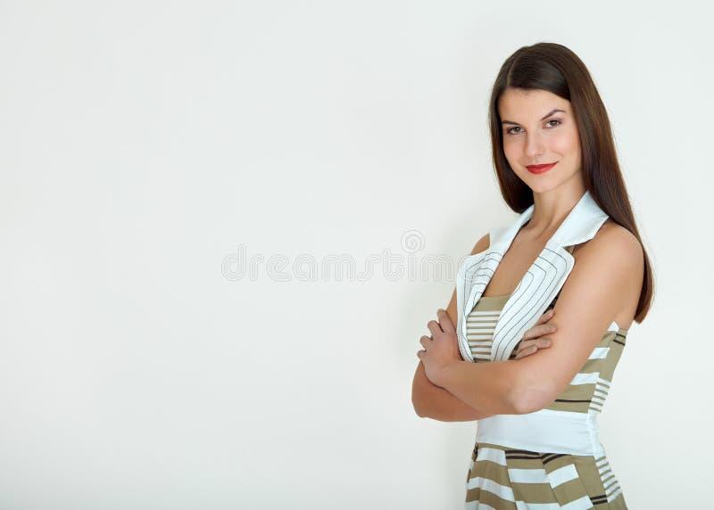 2 business woman Isolerat över vitbakgrund royaltyfri bild