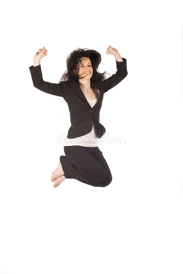 Business Woman Jumping Stock Photos