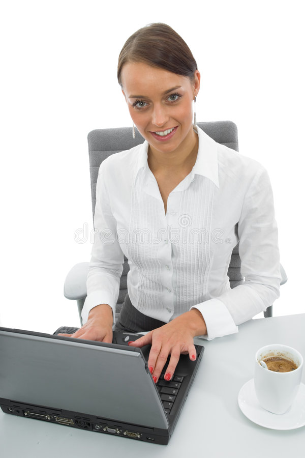 Download Business woman and laptop stock photo. Image of laptop - 3094644