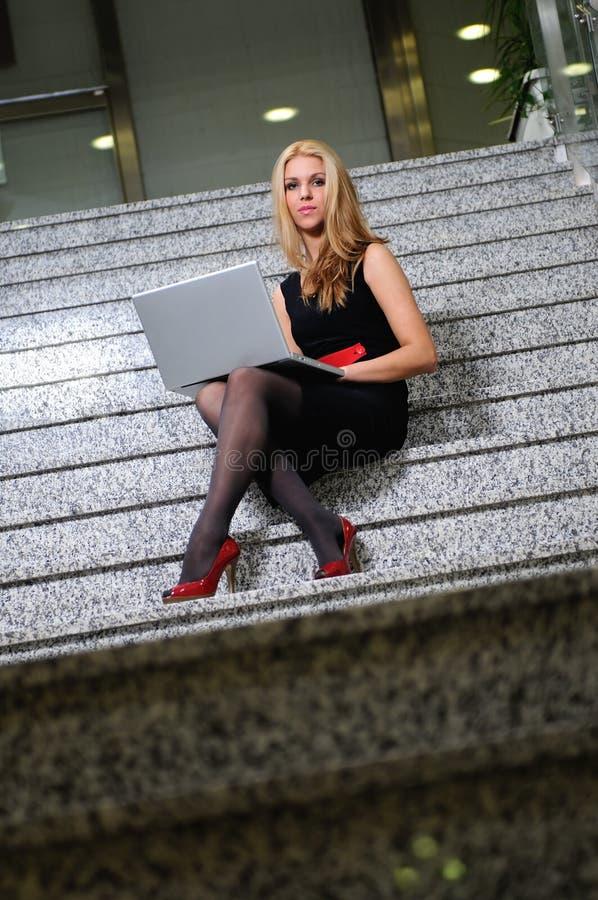 Business woman laptop stock photos
