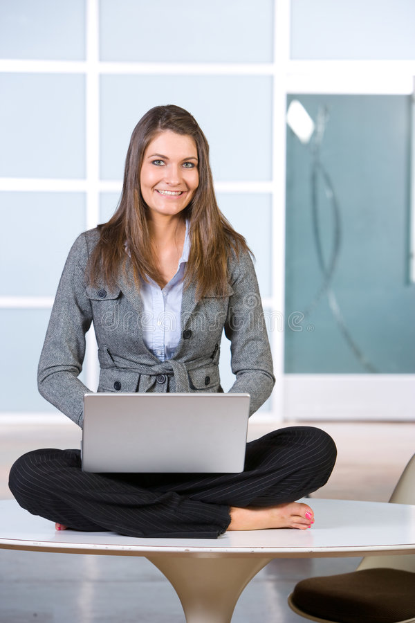 Business Woman on laptop stock photography