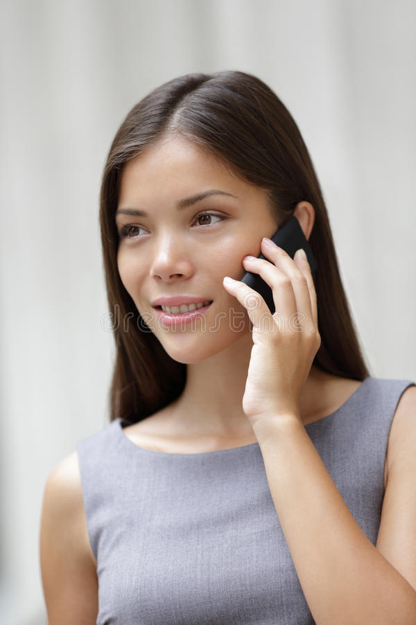 Business Woman Lawyer Talking On Smartphone Stock Images