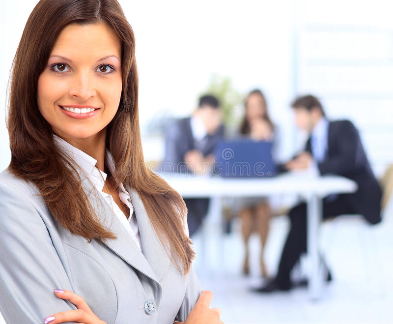 Business woman leading stock photos