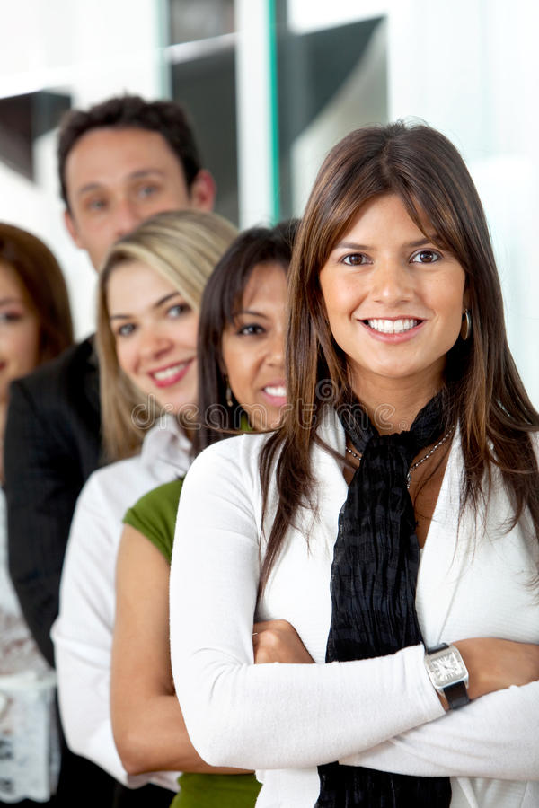 Download Business Woman Leading A Team Stock Photo - Image: 12310940