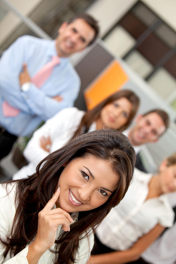 Download Business Woman Leading A Team Stock Image - Image: 13297381